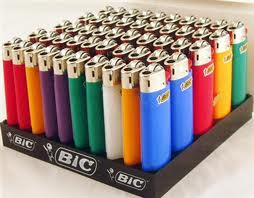 Mini Bic Lighters 50ct (side view)