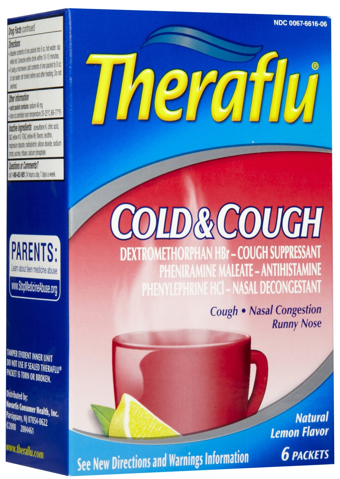 Theraflu Cold Cough 6 S Red Yahya Trading Corporation