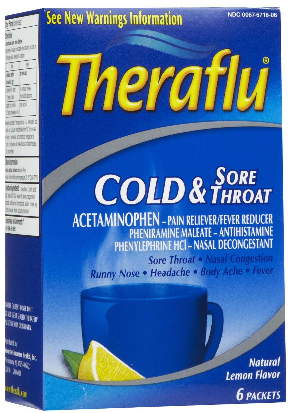Theraflu Cold Sore Throat 6 S Blue Yahya Trading Corporation